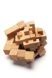 puzzle 3D en bois Images libres de droits