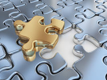 Puzzle 3D. Innovate, Differentiate Business Stock Image