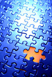 Puzzle. Piece missing from jigsaw puzzle Royalty Free Stock Photos