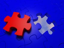 Puzzle #4 image stock