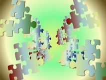 Puzzle. Vector illustration made with Flash Stock Image