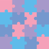 Puzzle. Jigsaw color puzzle pattern, vector illustration Royalty Free Stock Photos
