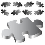 Puzzle. On the white background Stock Photography