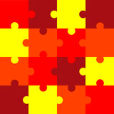 Puzzle. This is jigsaw color puzzle pattern, vector illustration Royalty Free Stock Photos