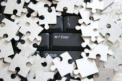 Puzzle. Background possible to use for printing and project Royalty Free Stock Photos