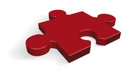 Puzzle. Illustration of Jigsaw puzzle red piece Stock Photo