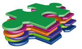 Puzzle. Illustration of Jigsaw puzzle pieces Stock Photos
