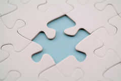 Puzzle. Piece missing from a puzzle Stock Photo