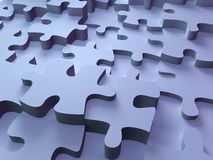 Puzzle. Pieces of different height; quality 3d render Stock Photo