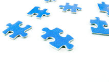 Puzzle. Blue puzzle isolated on white background Royalty Free Stock Photos