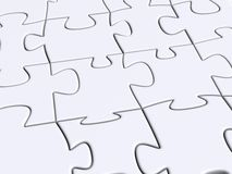 Puzzle. 3D render of a puzzle Stock Images