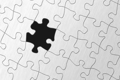 A puzzle. Illustration of a puzzle missing a piece Royalty Free Stock Photos