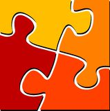 Puzzle. Vector illustration of puzzle pieces vector illustration Royalty Free Stock Photos