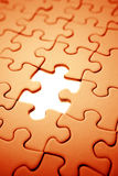 Puzzle. Piece missing from jigsaw puzzle Royalty Free Stock Photo