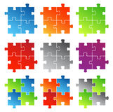 Puzzle. Vector illustration of puzzle....more colors Stock Photography