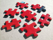 Puzzle. Red puzzle Royalty Free Stock Photography