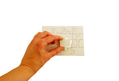 Puzzle. Pieces interlocked together to make a rectangle Royalty Free Stock Photos
