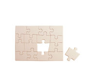 Puzzle. Pieces interlocked together to make a rectangle Stock Photography