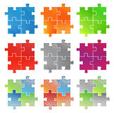 Puzzle. Vector illustration of halftone puzzle Stock Photos