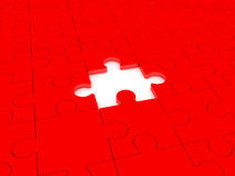 Puzzle. Missing puzzle representing solution, teamwork and success Stock Photos