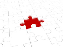 Puzzle. Missing puzzle representing solution, teamwork and success Royalty Free Stock Image