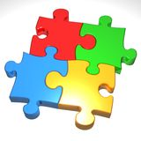 Puzzle. An illustration of a completed jigsaw puzzle Stock Images