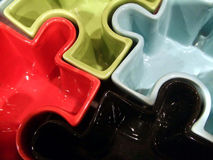 Puzzle. Ceramic Colorful Puzzle Stock Images