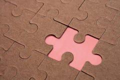 Puzzle. Compile fails puzzle final piece Stock Image