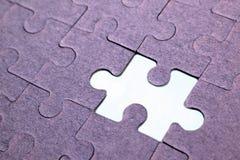 Puzzle. Fails compile, final piece Stock Images