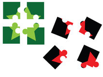 Puzzle. Pieces. Eps8, vector, easy resizing or change colors Royalty Free Stock Photography