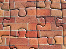 Puzzle. Wall Stock Photo