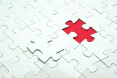 Puzzle. White puzzles for background. business concept Stock Photography