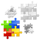 Puzzle. In vector you may easy duplicate parts for expansion Royalty Free Stock Photos