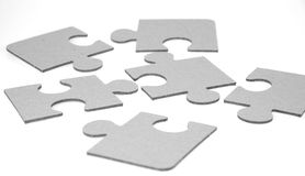 Puzzle. Isolated on white background Royalty Free Stock Photos