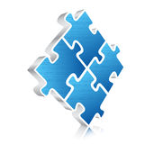 Puzzle. Vector illustration of 3D puzzle Stock Images