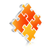 Puzzle. Vector illustration of 3D puzzle Royalty Free Stock Image