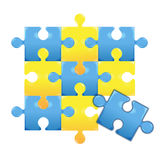 Puzzle. S border on white background Stock Images