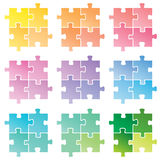Puzzle. Vector illustration of puzzle .... a lot of colors Royalty Free Stock Photography