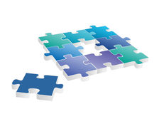 Puzzle. Vector illustration of 3d jigsaw puzzle stock illustration