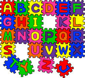 Puzzle ABC Royalty Free Stock Photo