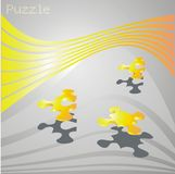 Puzzle,abstract art Stock Image
