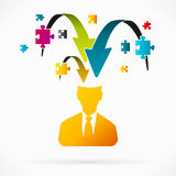 Puzzle. Abstract avatar vector illustration about jigsaw puzzle Royalty Free Stock Photography