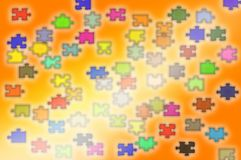Puzzle abstract background Stock Image