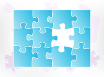 Puzzle abstract Royalty Free Stock Photo