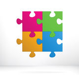 Puzzle abstract illustration concept.  + EPS8 Stock Image