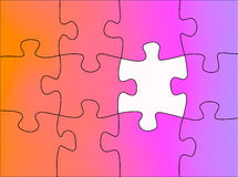 Puzzle abstract Stock Photo