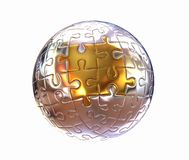 Puzzle abstract sphere Stock Photography