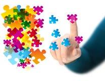 Puzzle abstrait photo libre de droits