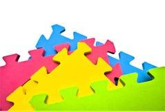 puzzle abstrait de fond Images libres de droits