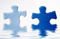Puzzle in acqua Immagini Stock Libere da Diritti
